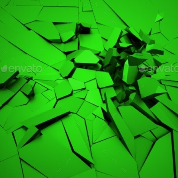 Abstract 3D Rendering Of Cracked Surface