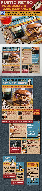 Rustic Retro Food Menu - Food Menus Print Templates
