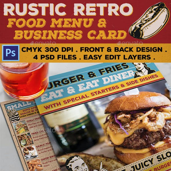 Rustic Retro Food Menu