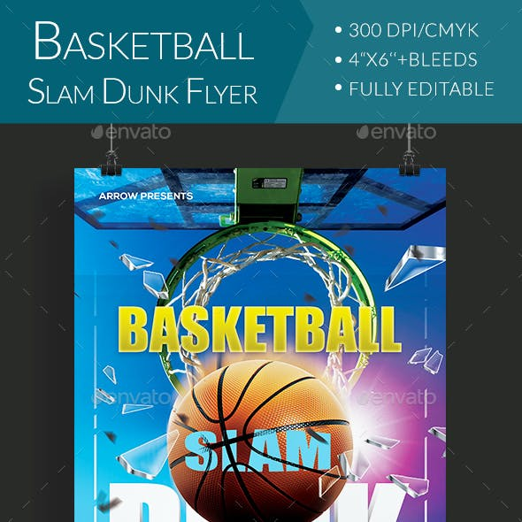 Basketball Slam Dunk Flyer