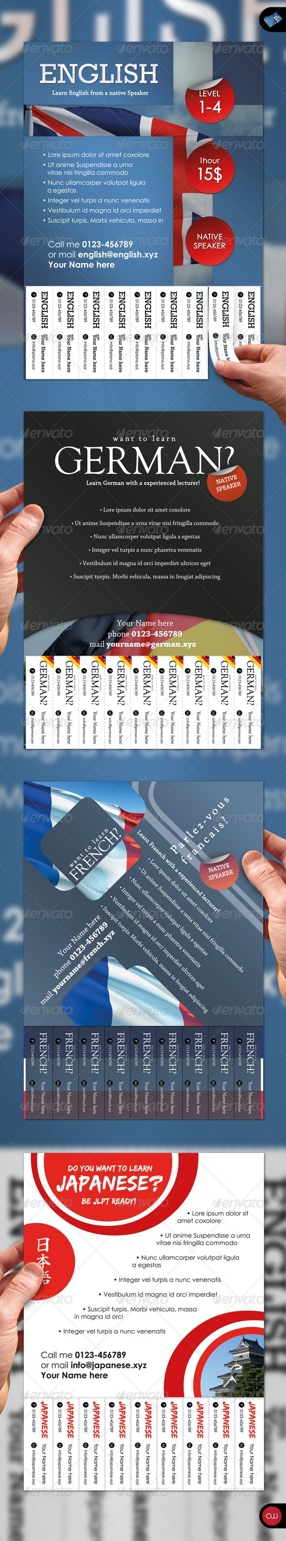 Tear-Off Flyer - Vol.2 - Languages - Commerce Flyers