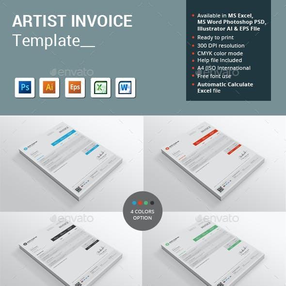 Artist Invoice Template