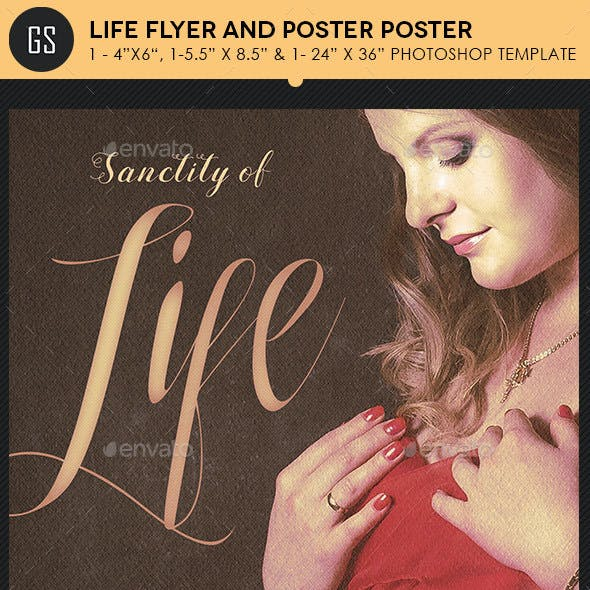 Life Flyer Plus Poster Template Photoshop