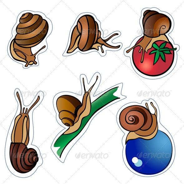 Six slugs - Animals Characters