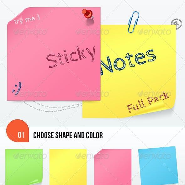 Sticky Notes Full Pack