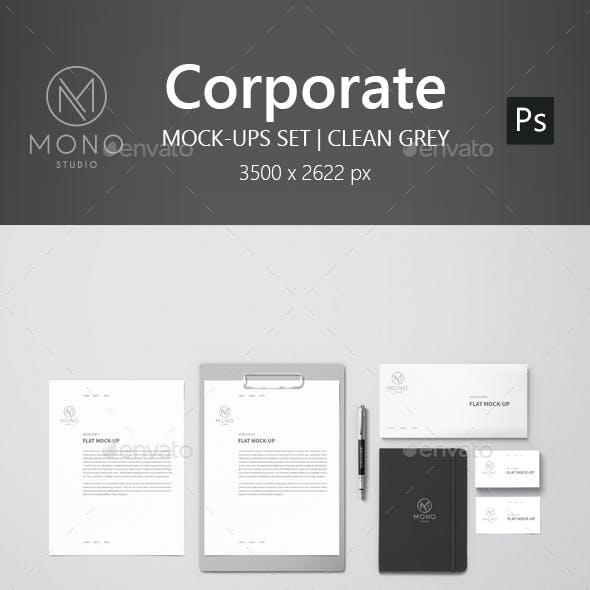 Corporate Mockup - Clean Grey