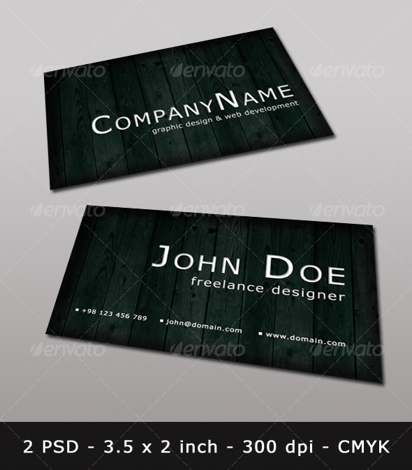 Wooden Business Card Template - Retro/Vintage Business Cards