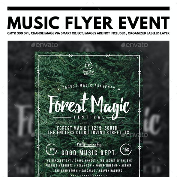 Forest Magic Festival Flyer