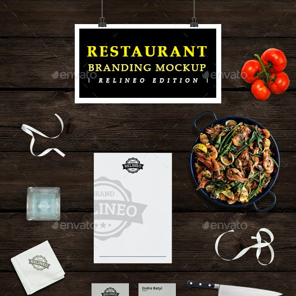 Restaurant Brand Identity Mock-up