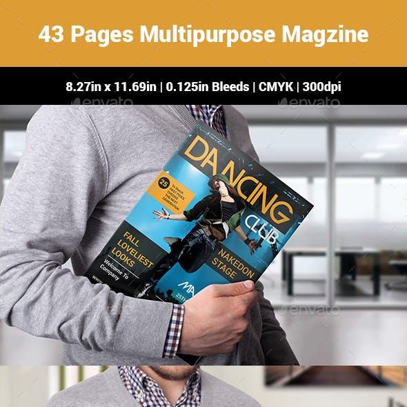 43 Pages Multipurpose Magzine Design