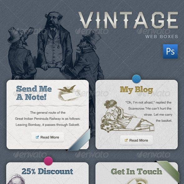 Vintage Web Boxes - Retro Banners