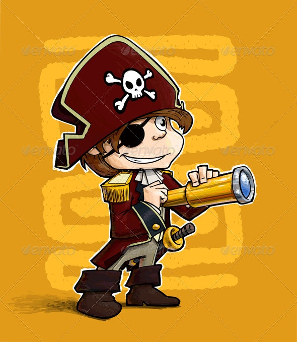 Little Pirate - Characters Vectors