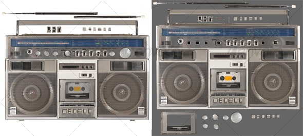 Radio Cassette Recorder 2 - Technology Isolated Objects