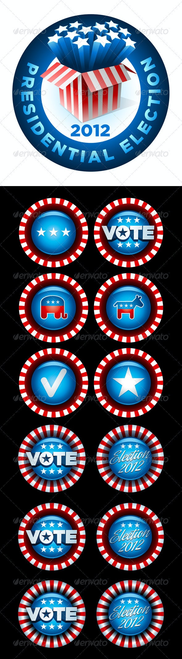 Vote and Election Badge Collection - Miscellaneous Vectors