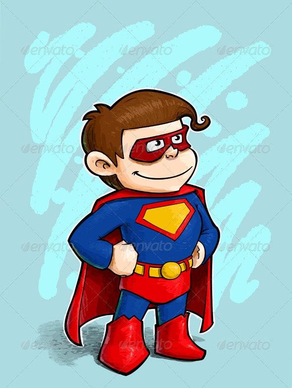 Little Superhero - Characters Vectors