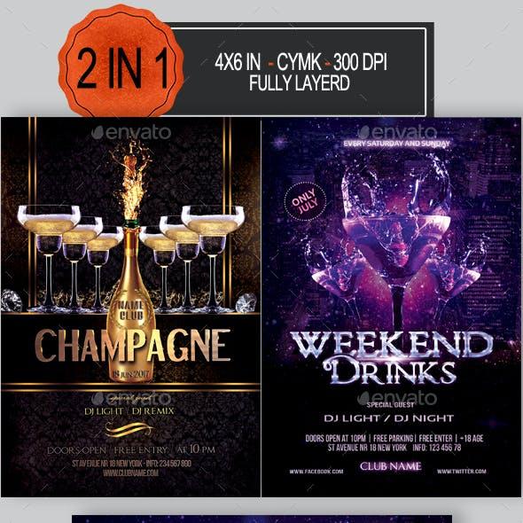 Drinks Party Flyer Bundle