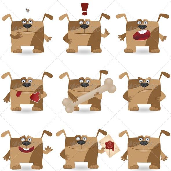 Funny cartoon dogs
