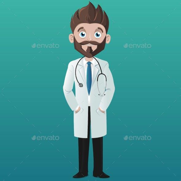 Cartoon Smiling Doctor