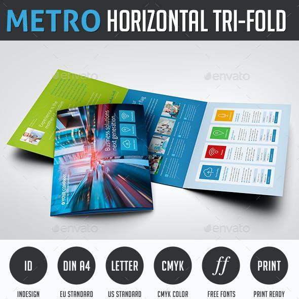 Metro Tri-fold Horizontal Brochure
