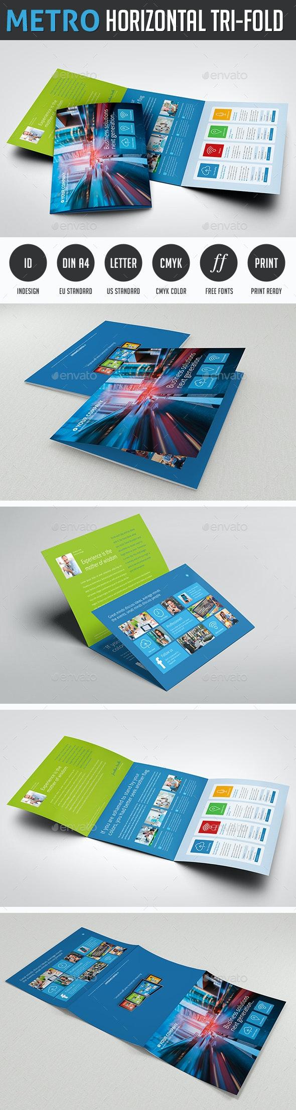 Metro Tri-fold Horizontal Brochure - Corporate Brochures