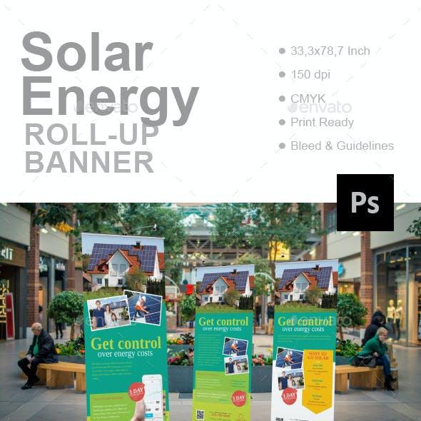 Solar Energy Roll-Up Banner