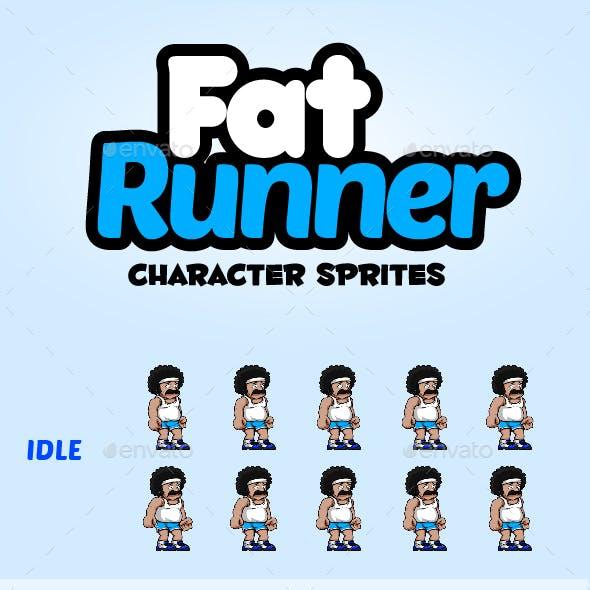 Fat Runner Character Sprites
