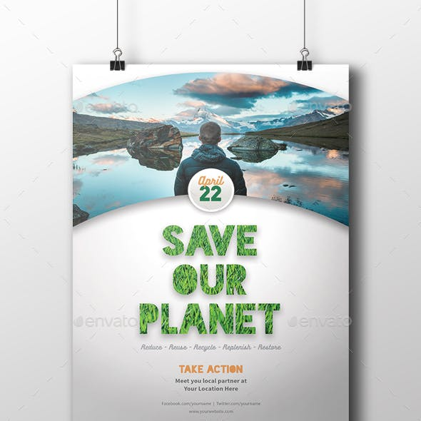 Earth Day Flyer/Poster Template
