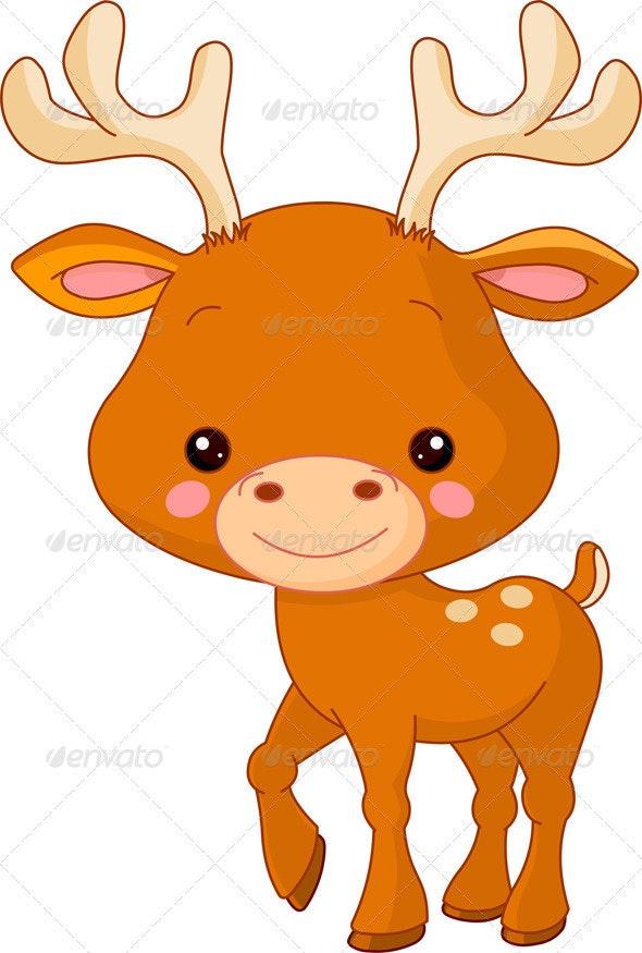 Fun zoo. Deer - Animals Characters