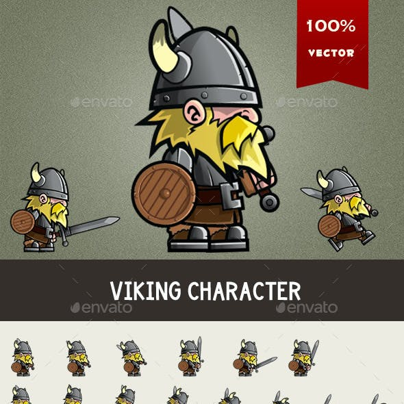 Viking Game Character Spritesheet