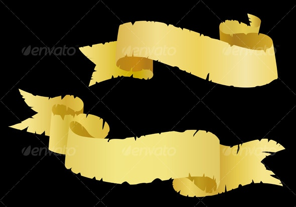 Old ribbons as a banners - Decorative Vectors