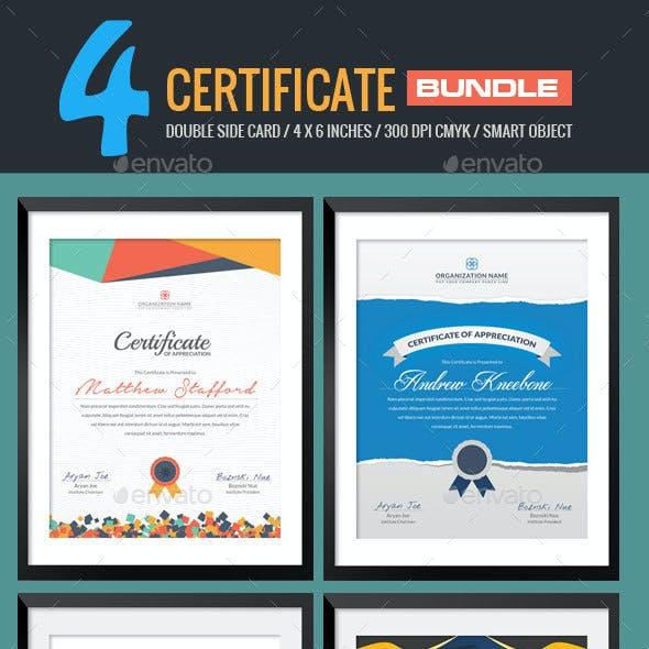 4 In 1 Multipurpose Certificates Bundle