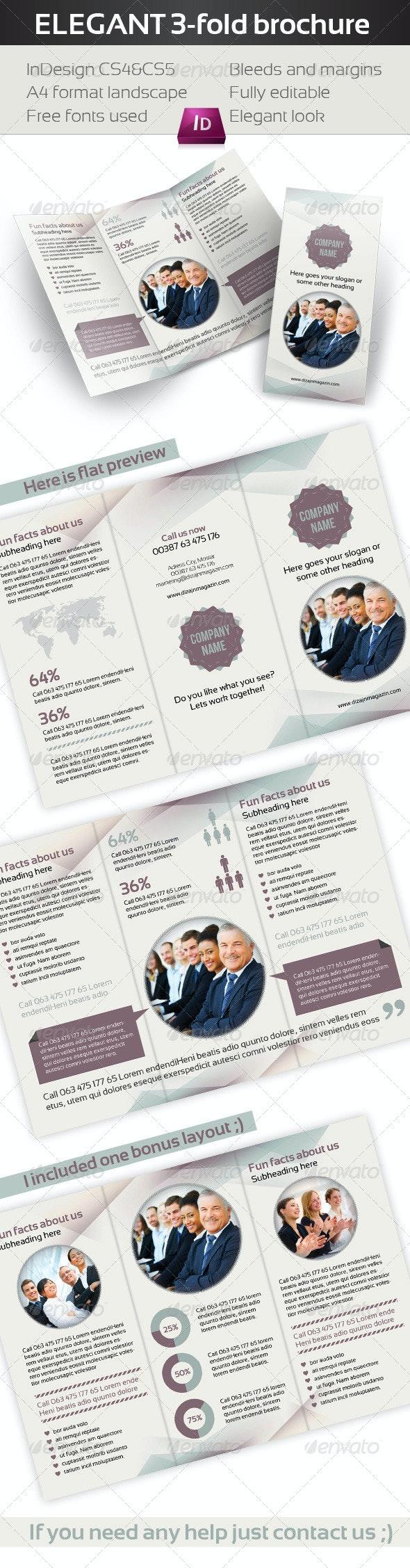 Elegant Business 3-fold Brochure - Corporate Brochures