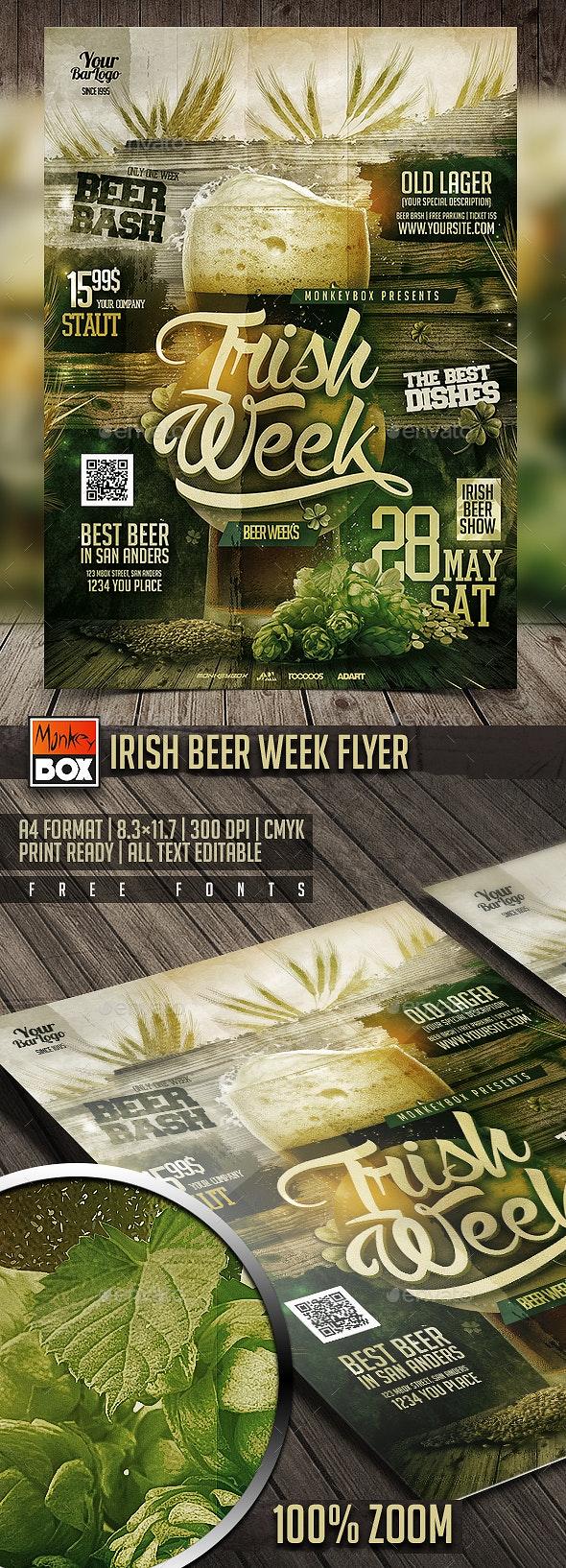 Irish Beer Week Flyer - Restaurant Flyers