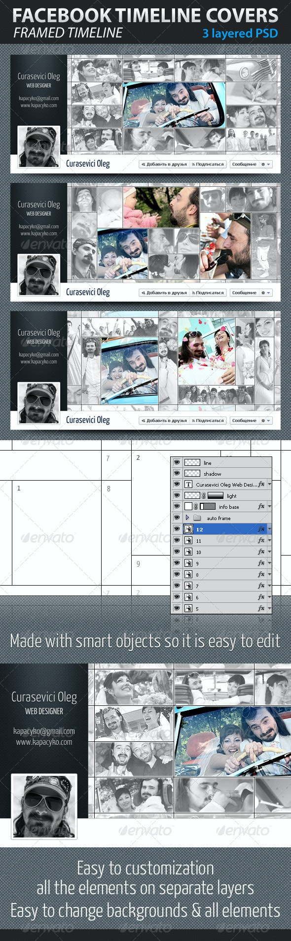 Framed Facebook Timeline Covers - Facebook Timeline Covers Social Media