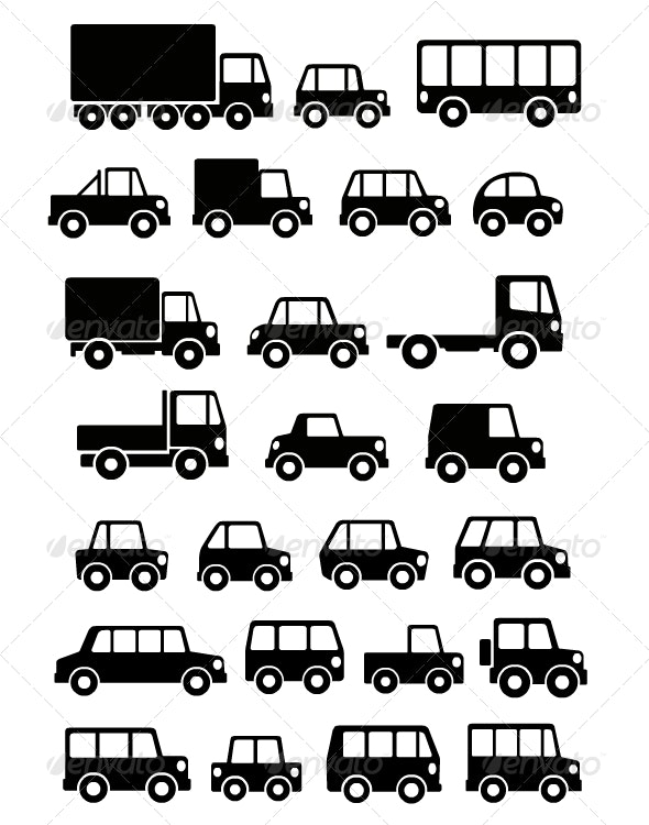 Cars silhouettes - Man-made Objects Objects