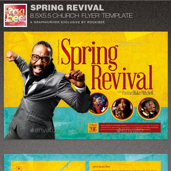 Spring Revival Church Flyer Template