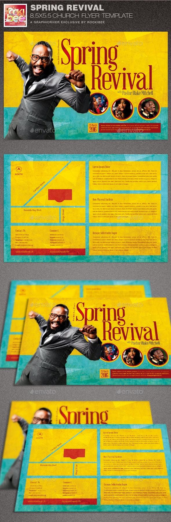 Spring Revival Church Flyer Template - Church Flyers