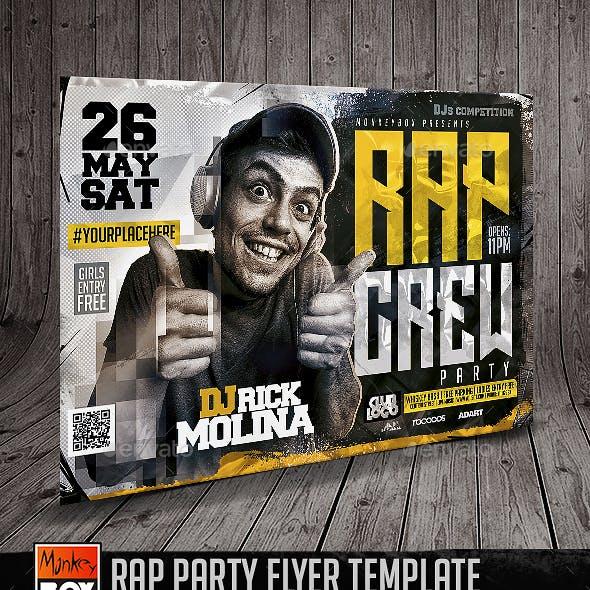 Rap Party Flyer Template