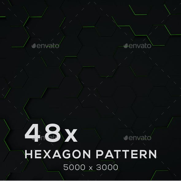 48 x Hexagon Backgrounds