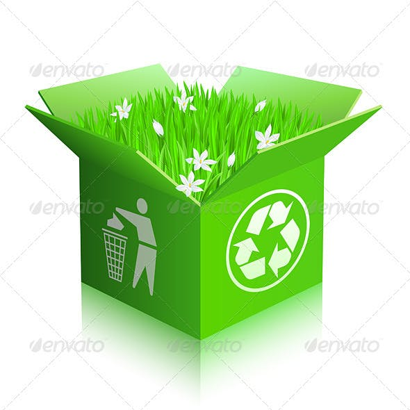 Open recycle shipping box