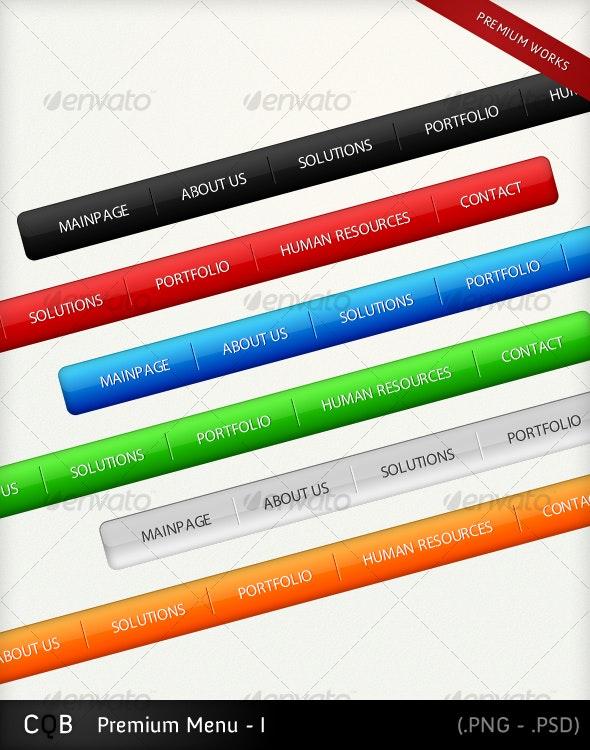 Premium Menu - I - Navigation Bars Web Elements
