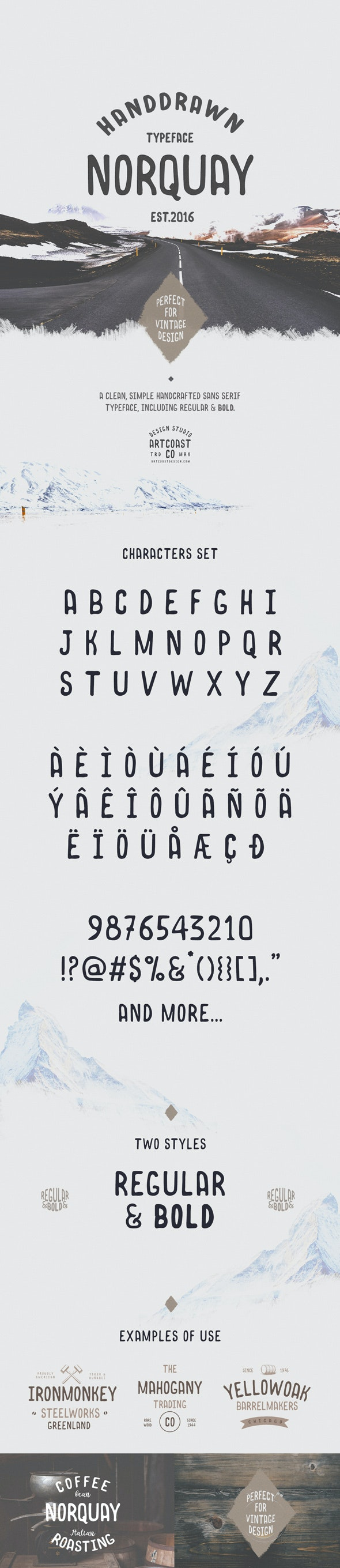 Norquay - Hand Drawn Font - Handwriting Fonts