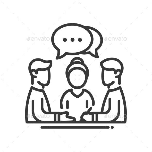 Business Meeting Single Icon