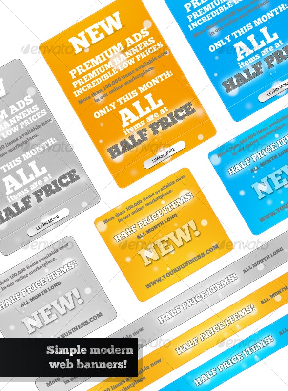 Simple & Modern Web Banners - Miscellaneous Graphics