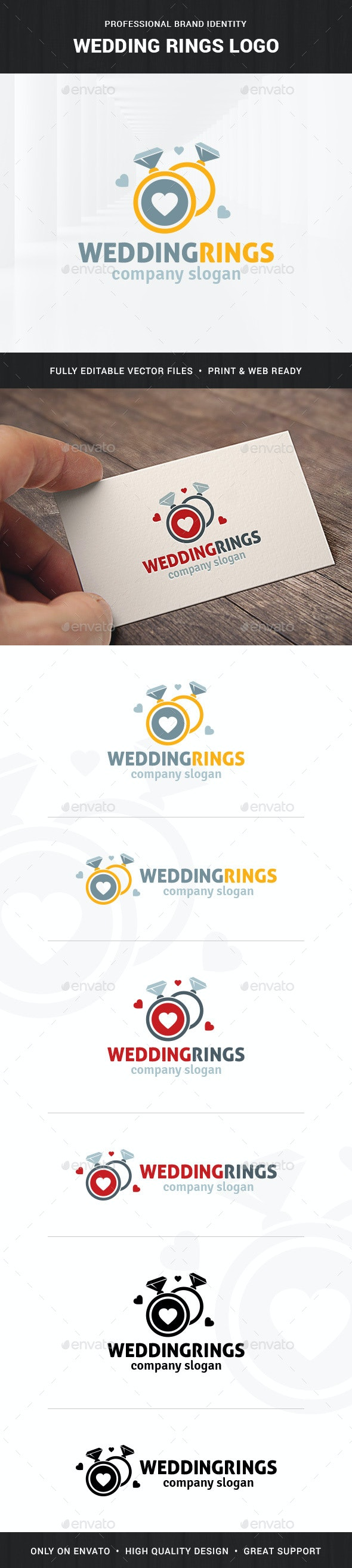 Wedding Rings Logo Template - Objects Logo Templates