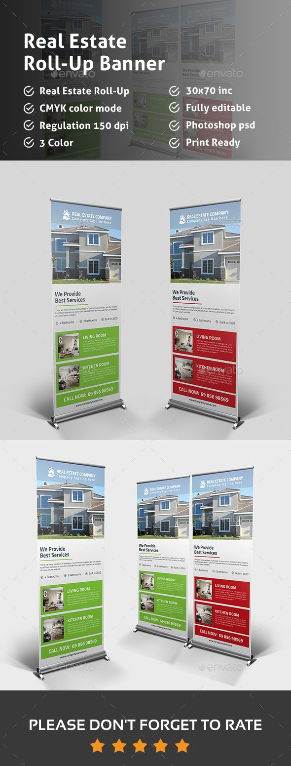 Real Estate Rollup Banner - Signage Print Templates