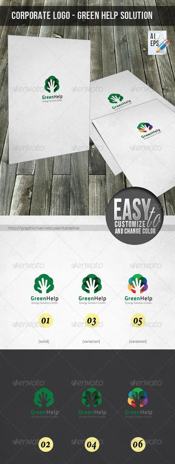 Corporate Logo - Green Help - Nature Logo Templates