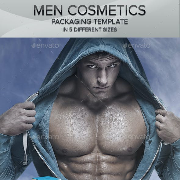 Men Cosmetics Box Templates