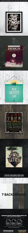 Hanging Poster Frame Mockup Design Vol. 1 - Posters Print