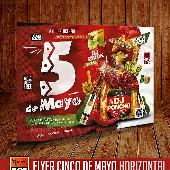 Flyer Cinco de Mayo Horizontal